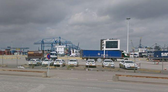 Het terrein van Rotterdam Shortsea Terminals.