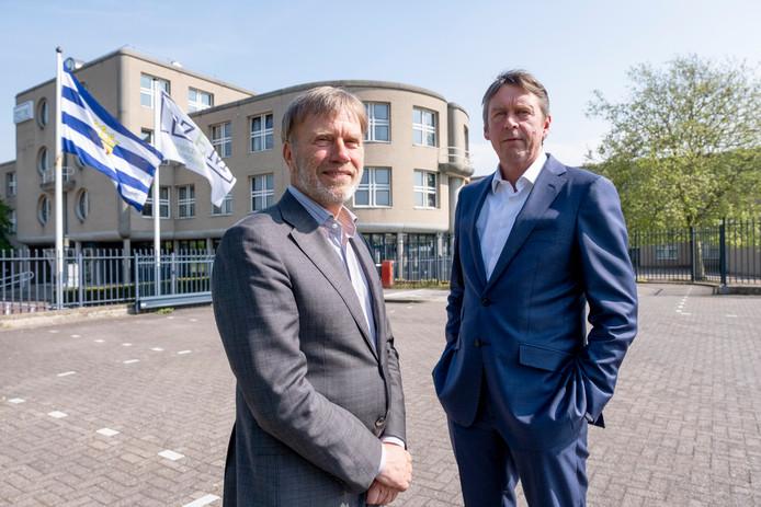 Algemeen directeur Frank Verhagen (links) en operationeel directeur Niels Unger van PZEM bij het hoofdkantoor in Middelburg.