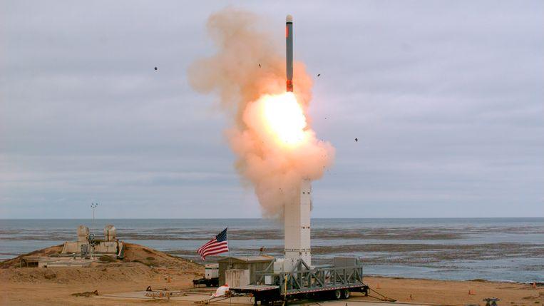 De Amerikaanse rakettest vond plaats op het eiland San Nicolas, nabij de kust van Californië.