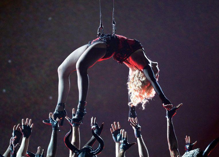 Madonna tijdens de Grammy's in februari Beeld anp