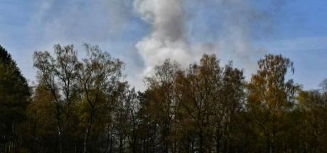 Flinke rookontwikkeling bij natuurbrand in Enschede