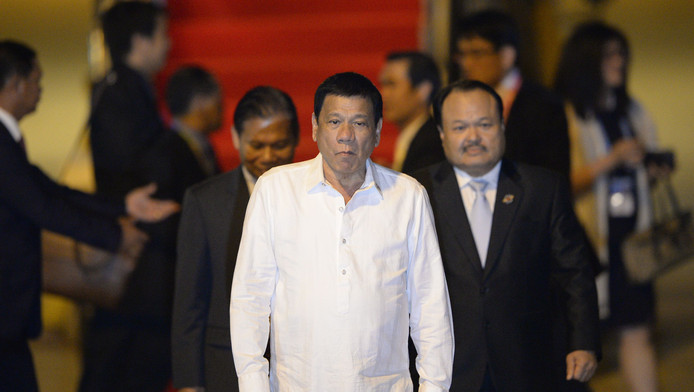 Duterte arriveert in Laos