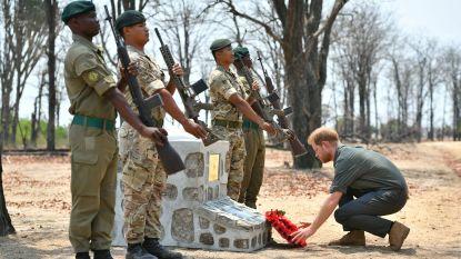 Prins Harry eert Britse soldaat die vertrappeld werd door olifant tijdens operatie tegen stropers