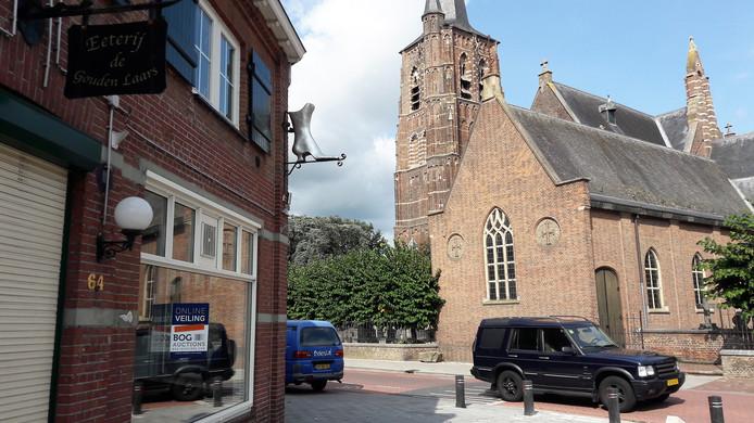 Het voormalige pand van De Gouden Laars aan de Kerkstraat in Loon op Zand.