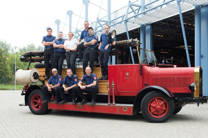 Een ploeg van de Goudse brandweer.