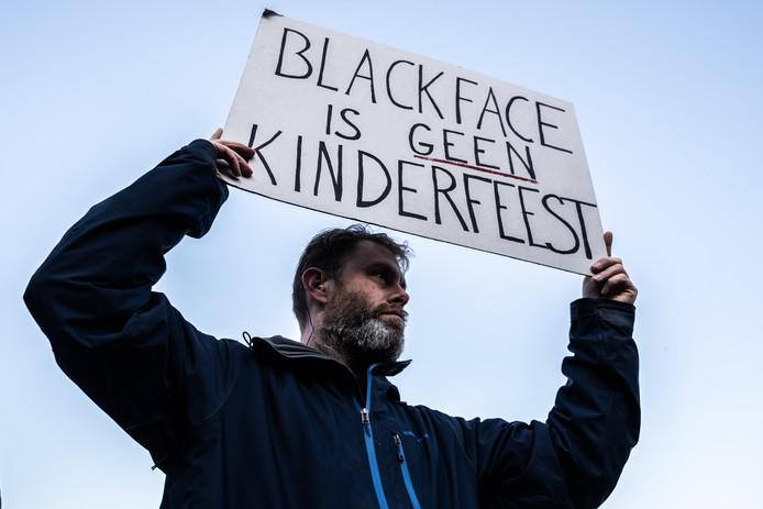 Demonstratie in november 2019 van KOZP (Kick Out Zwarte Piet) in Eindhoven tegen BlackFace.