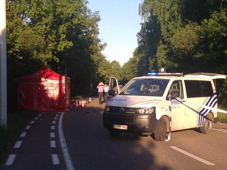 Een beeld van het ongeval.