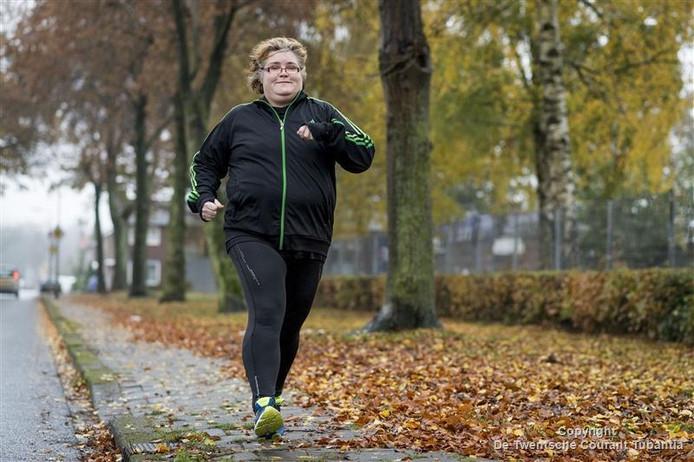 Nicolien Weghorst blijft, ondanks alle nare reacties, gewoon hardlopen