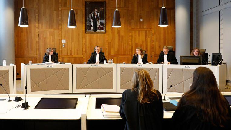Rechters in de rechtbank tijdens de regiezitting. Beeld anp