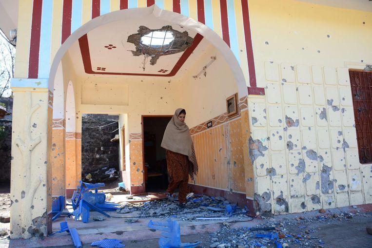 De schade is groot in Kasjmir.
