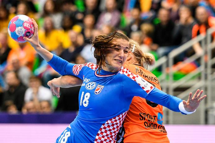 Selena Milosevic van Kroatië neemt het doel van Nederland onder vuur.