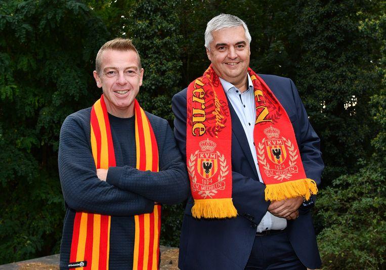 Dieter Penninckx, hoofdaandeelhouder van KV Mechelen, met algemeen directeur Frank Lagast.