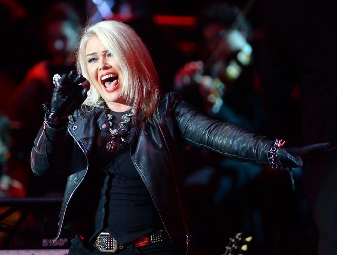 Kim Wilde tijdens een optreden in Berlijn in 2014.