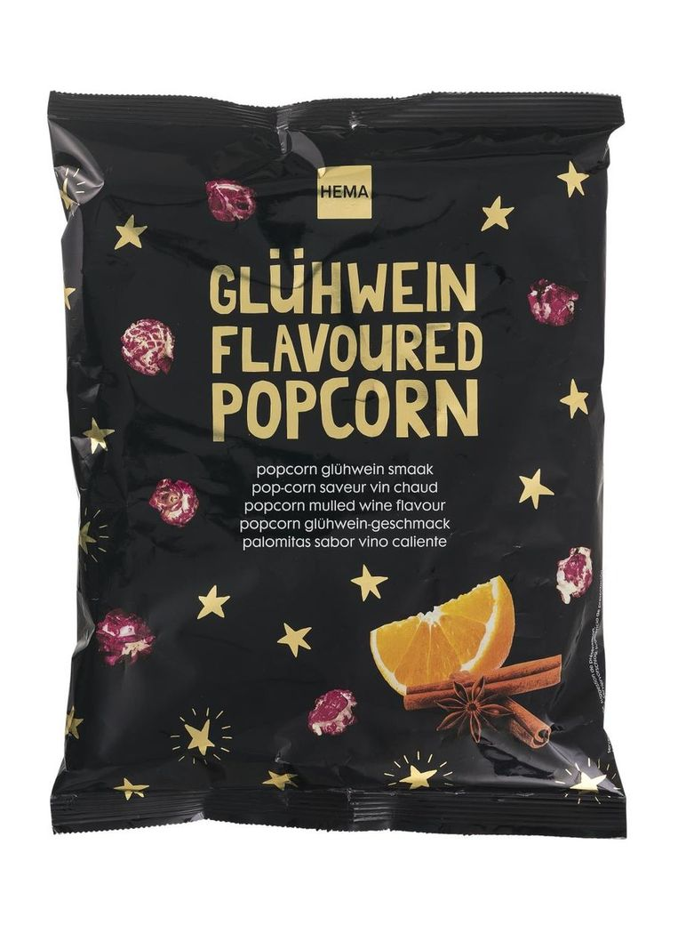 Popcorn met glühweinsmaak Beeld