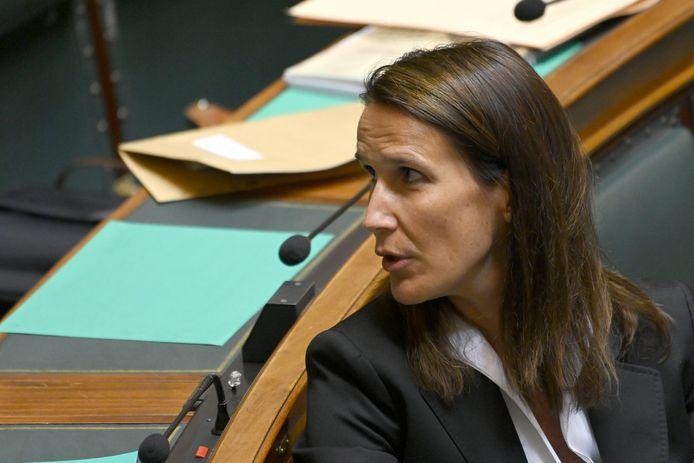 Sophie Wilmès au Parlement, ce 4 juin