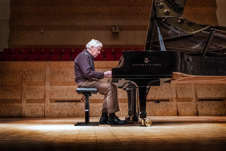 Giel Smeets (87) was een van de deelnemers aan Pianofest. Beeld Patrick Post
