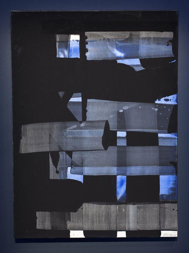 Pierre Soulages - 'Die geslaagdheid, verf in verschillende texturen over elkaar aangebracht, prachtig!' Beeld AKG
