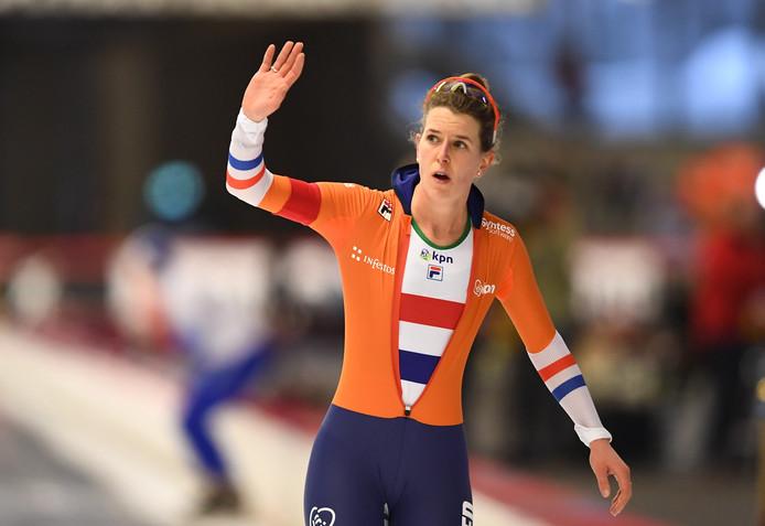 Ireen Wüst op het WK Afstanden 2019.