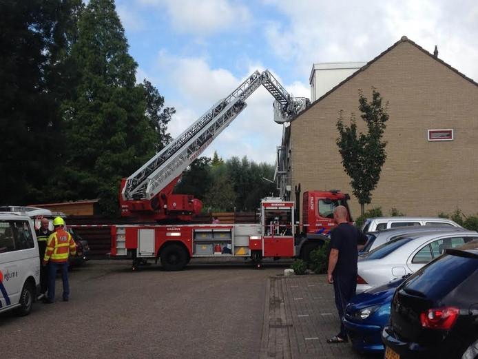 Brandweer in de Stikkerstraat Goes