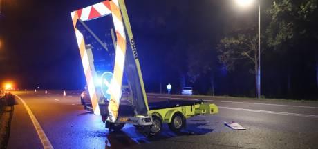 Automobilist vlucht na ongeluk met pijlwagen op A2 Boxtel