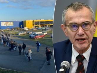 """Minister Vandenbroucke roept op om vandaag niet te winkelen na grote drukte op zaterdag: """"Doe het niet. Het is gevaarlijk"""""""