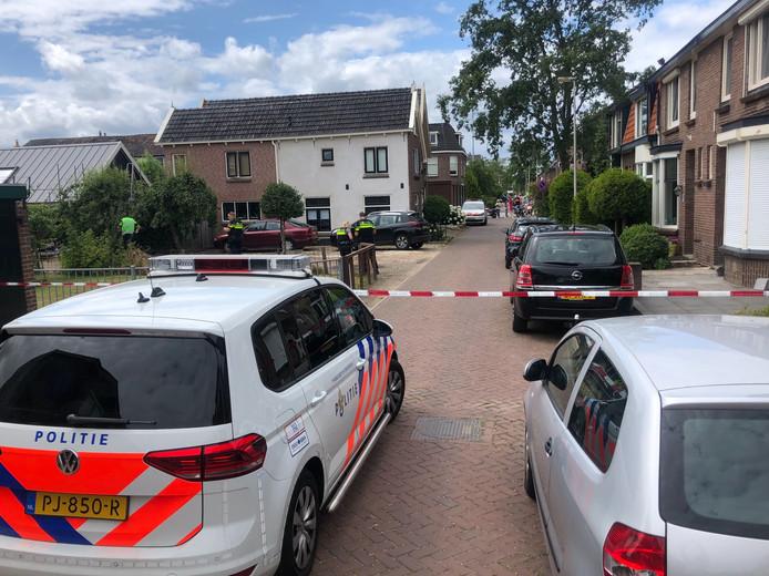 Een deel van de Vonderstraat werd afgezet.