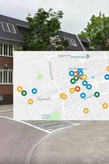 Waar wordt gebouwd in Oisterwijk en Moergestel? Klik op de kaart