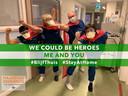 Ook het ic-personeel van het Maasstad is duidelijk. Met hun boodschap 'We could be heroes, me and you' maken ze duidelijk dat iedereen iets kan doen in deze crisis.