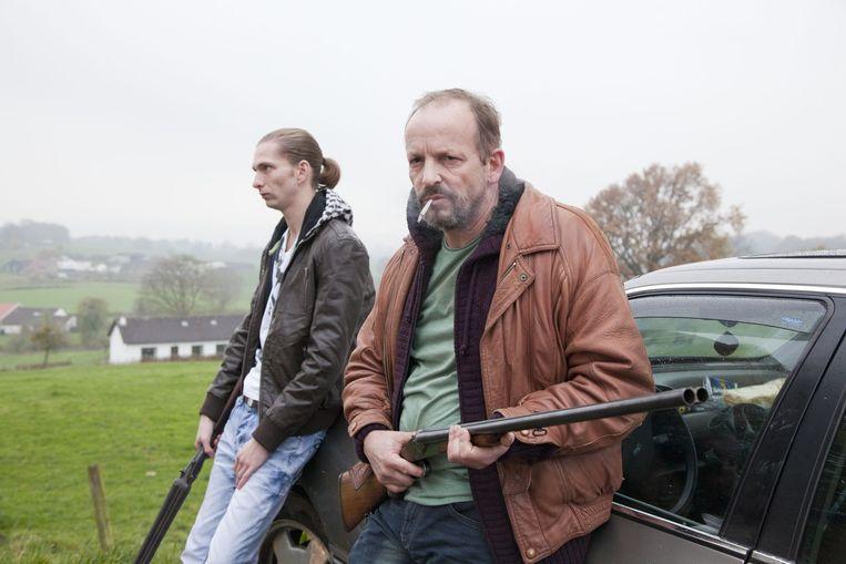 Vincent van der Valk als Jeffrey en Bart Slegers als Lei in Gluckauf. Beeld Ivo de Bruijn