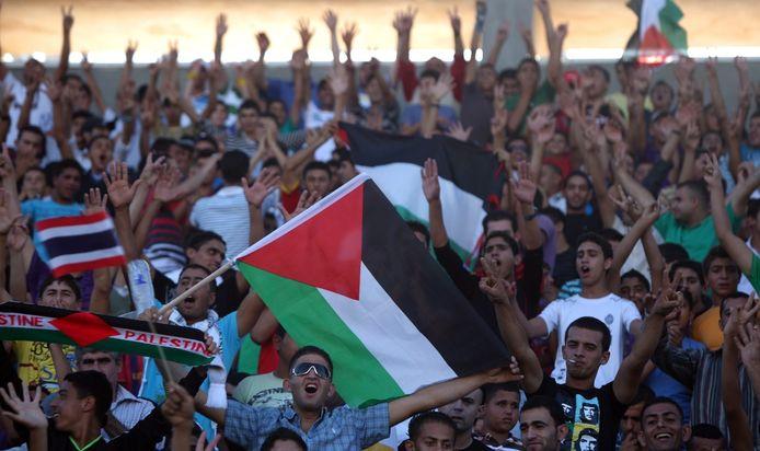 Fans van het Palestijnse nationale voetbalelftal.