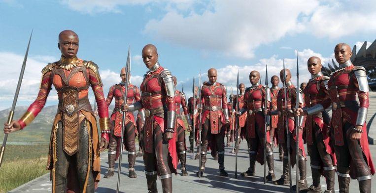De vrouwelijke krijgers in 'Black Panther'.