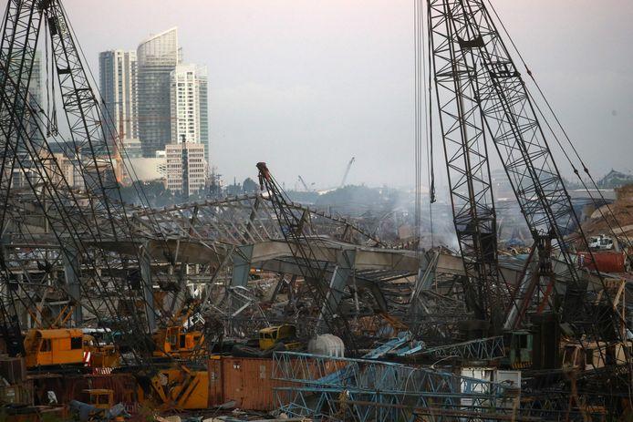 Zicht op de plek waar de explosie de meeste schade aan heeft gericht.