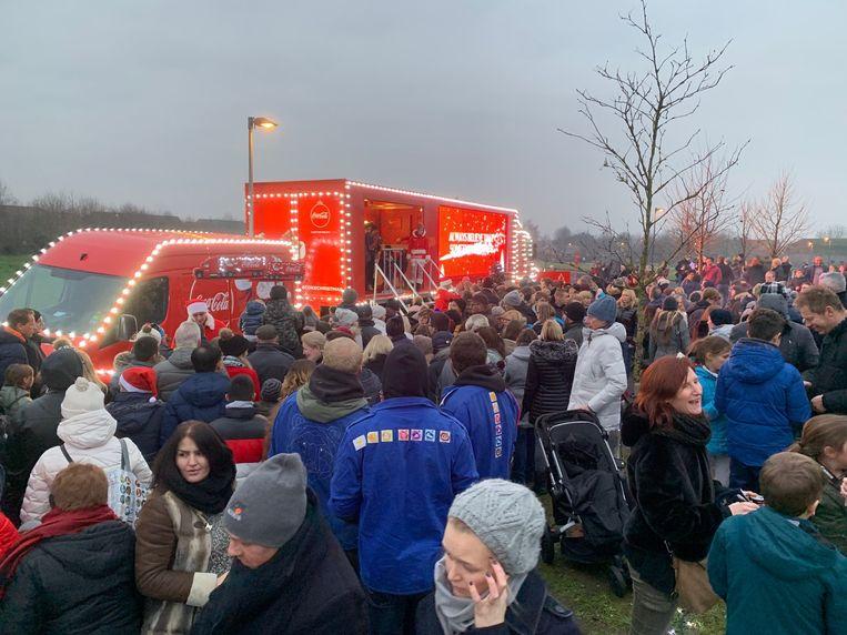 De kersttruck van Coca Cola zorgde vorig jaar voor een overrompeling.