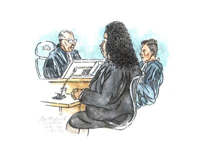Magali M.T. tijdens een zitting van de rechtbank in Rotterdam op 16 november 2017.