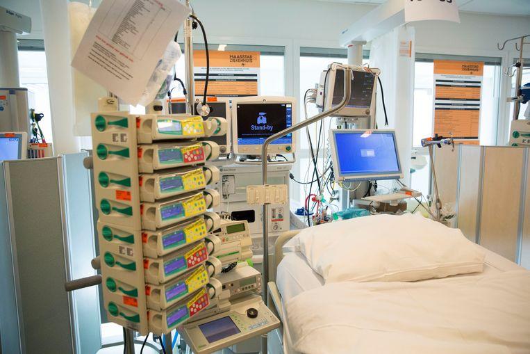 Nieuwe ic-afdeling in het Rotterdam Maasstad ziekenhuis. Beeld Arie Kievit