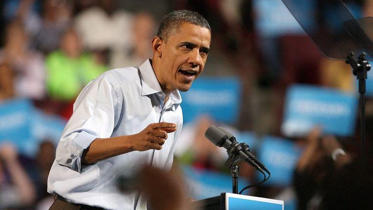 Obama spreekt in Columbus Beeld epa