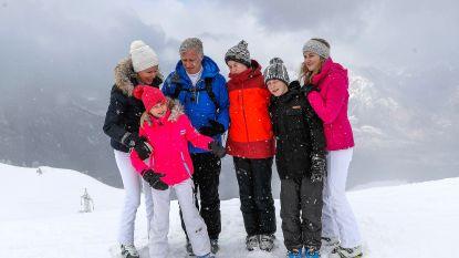 En toen wou de sneeuw met de koning op de foto