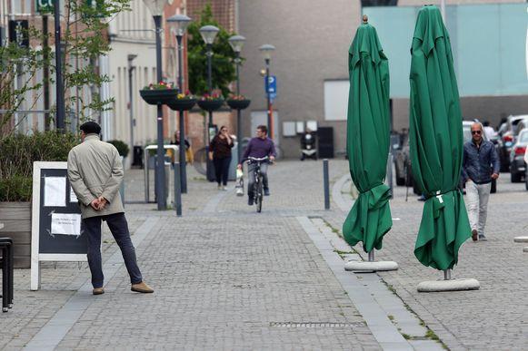 Op de Grote Markt in Herentals was het rustig vertoeven zaterdagnamiddag
