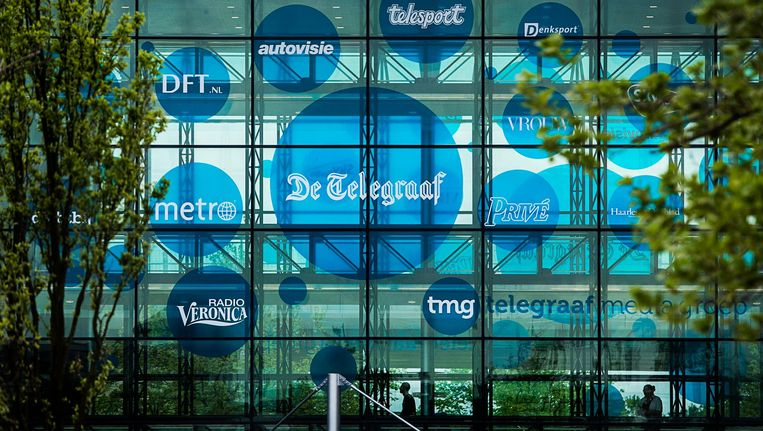 Het hoofdkantoor van de Telegraaf Media Groep (TMG). Beeld anp