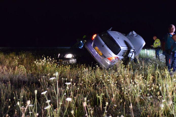 Ongeluk op de A30 in Ede.