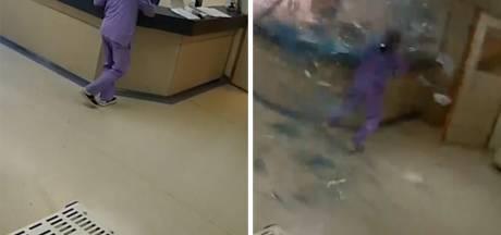 Le moment des explosions de Beyrouth capturé par les caméras d'un hôpital