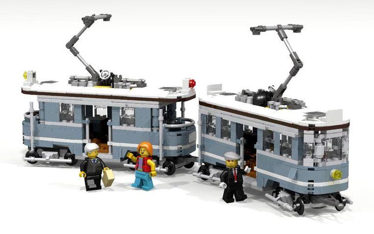 Historische tram van LEGO. Beeld LEGO ideas