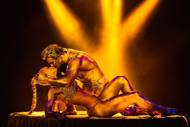 De Gouden Droom tijdens het Wereldkerstcircus in Carré. Beeld Wereldkerstcircus Carré