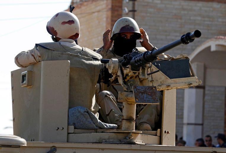 Foto ter illustratie: militairen in de Noordelijke Sinaï.