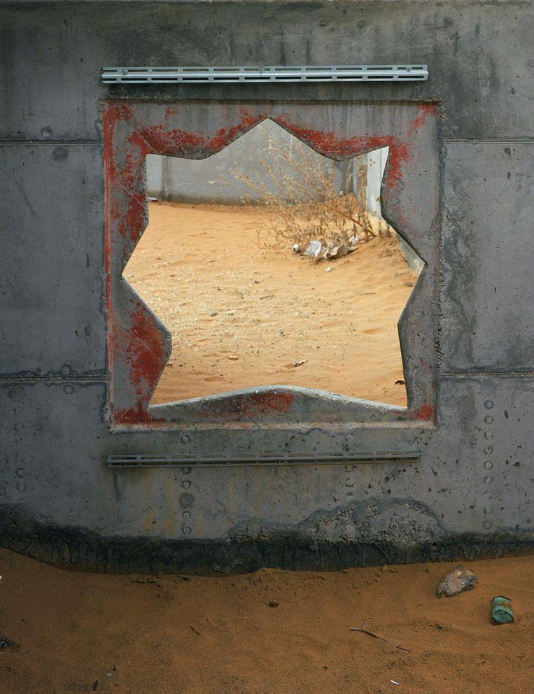 Het gat van de steenboor in Baladia. Beeld Ad van Denderen