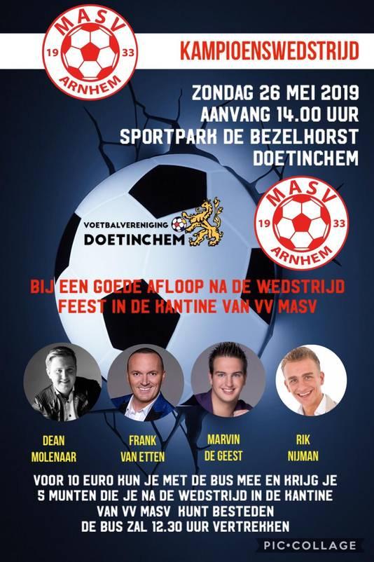 'Bij een goede afloop' in Doetinchem viert MASV zondag groot feest.