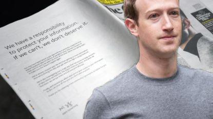 Zuckerberg zegt sorry in paginagrote advertentie in Britse kranten