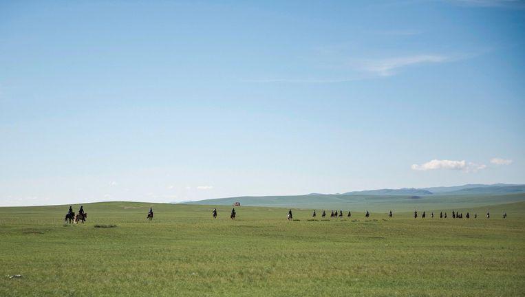 Mongol Derby: 1000 kilometer door woestenij. Beeld Saskia Marloh