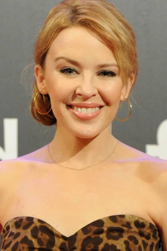 De 44-jarige Australische zangeres/actrice Kylie Minogue.