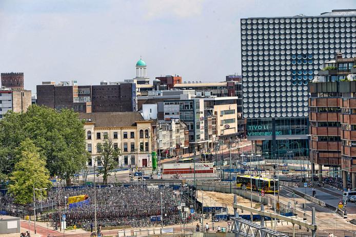 De fietsenstalling op het Smakkelaarsveld verdwijnt op 16 september.